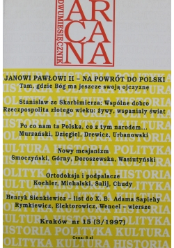 Dwumiesięcznik Arcana Nr 15 Cuda Polski