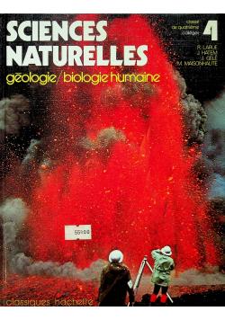 Science naturelles geologie biologie humaine