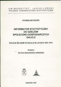 Informator statyczny do dziejów społeczno gospodarczych