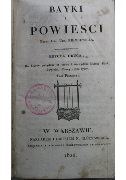 Bayki i powieści tom I 1820 r.