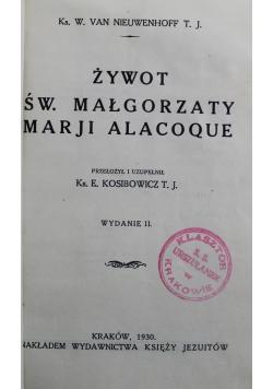 Żywot św Małgorzaty Marji Alacoque  1930 r