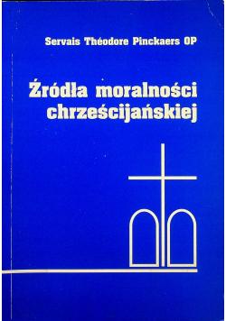 Źródła moralności chrześcijańskiej