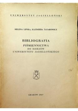Bibliografia Piśmiennictwa do dziejów uniwersytetu jagiellońskiego
