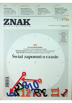 Znak Miesięcznik 728 Świat zapomni o czasie