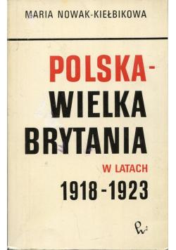 Polska Wielka Brytania w latach 1918 - 1923