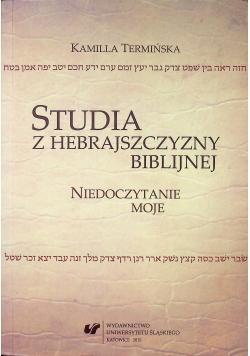 Studia z hebrajszczyzny biblijnej
