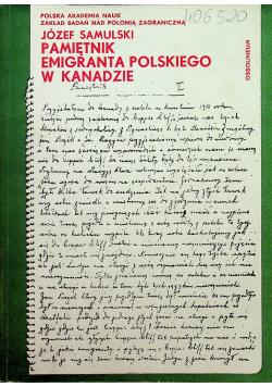 Pamiętnik emigranta polskiego w Kanadzie