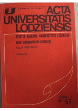 Acta Universitatis Lodziensis. Folia Historica nr 57