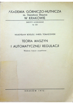 Teoria maszyn i automatycznej regulacji