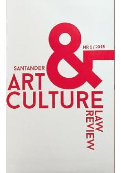 Santander Art and Culture Law Review nr 1 / 2015