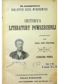 Historya literatury powszechnej Tom V 1902r