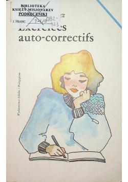 Exercices auto correctifs