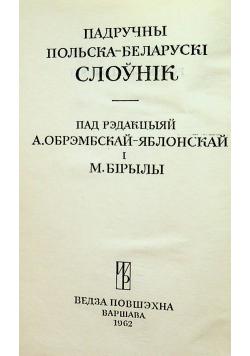 Podręczny słownik Polsko Białoruski