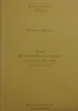 Senat Rzeczypospolitej Polskiej w latach 1989 1991