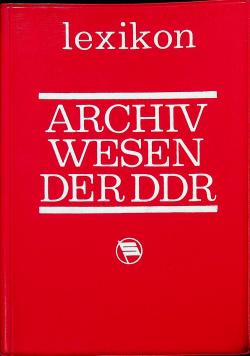Archiv wesen der DDR