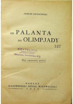 Od palanta do olimpjady 1933 r.