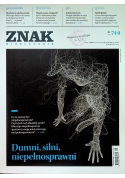 Znak Miesięcznik 740 Dumni silni niepełnosprawni