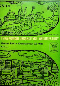 Teka komisji urbanistyki i architektury Tom XV