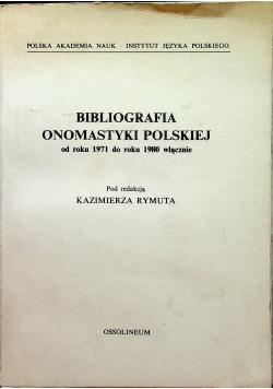 Bibliografia onomastyki polskiej