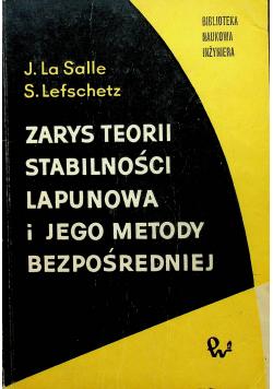 Zarys Teorii Stabilności Lapunowa i jego metody bezpośredniej