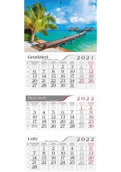 Kalendarz 2022 Trójdzielny Letni urlop CRUX