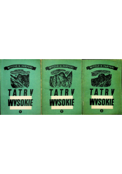 Tatry wysokie tomy od I do III