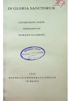 In gloria sanctorum 1928 r
