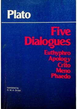 Five Dialogues Euthyphro Apology Crito Meno Phaedo