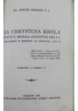 Za Chrystusa Króla 1931 r.