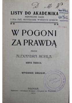 W pogoni za prawdą Serya Trzecia 1910 r.