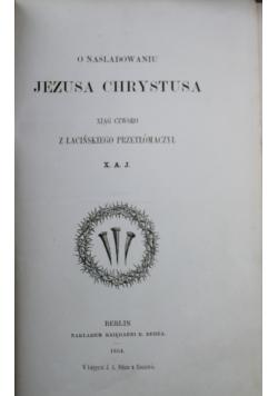 O naśladowaniu Jezusa Chrystusa 1854 r.