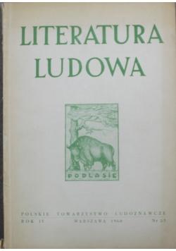 Literatura ludowa Rok IV nr 2 i 3