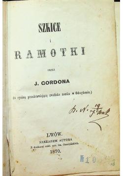 Szkice i ramotki 1870 r.