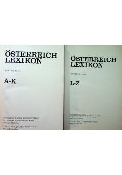 Osterreich Lexikon 2 tomy