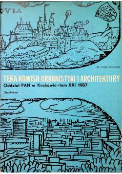 Teka Komisji Urbanistyki i Architektury Tom XXI