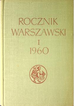 Rocznik Warszawski I 1960
