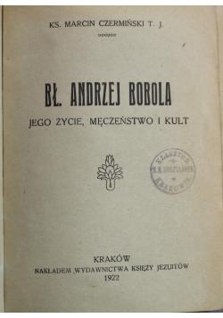 Błogosławiony Andrzej Bobola 1922 r.