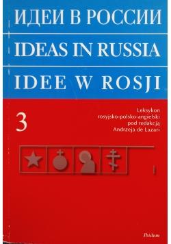 Idee w Rosji Tom 3