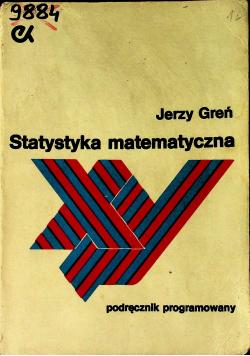 Statystyka matematyczna Podręcznik programowany