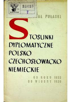 Stosunki Dyplomatyczne Polsko Czechosłowacko Niemieckie