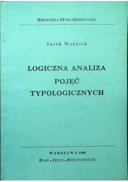 Logiczna analiza pojęć typologicznych