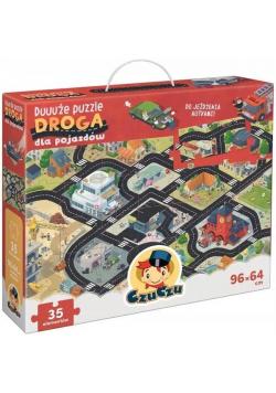 Duuuże puzzle z dziurką Droga dla pojazdów
