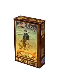 Puzzle 1000 Stare plakaty, Fabryka rowerów Howe