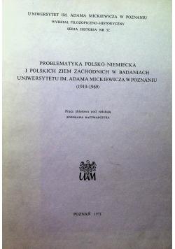 Problematyka Polsko Niemiecka i polskich ziem zachodnich