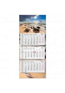 Kalendarz 2022 trójdzielny główka płaska Bałtyk