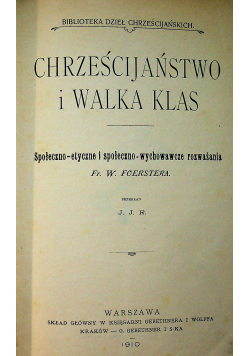 Chrześcijaństwo i walka klas 1910 r