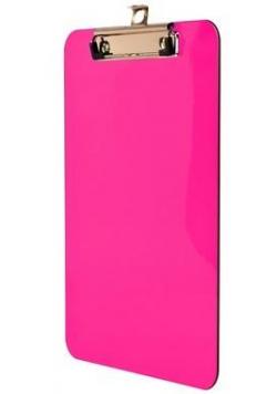 Deska z metalowym klipem A5 różowa BD640-R