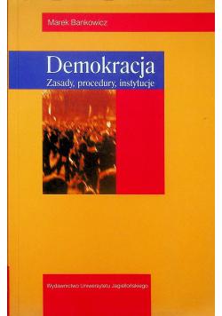 Demokracja zasady procedury instytucje