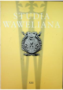 Studia Waweliana XIII