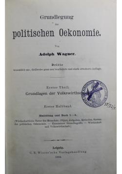Grundlegung der politischen Oekonomie 1892 r.